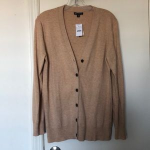NWT J Crew Factory Cotton/Wool Camel Cardigan Med